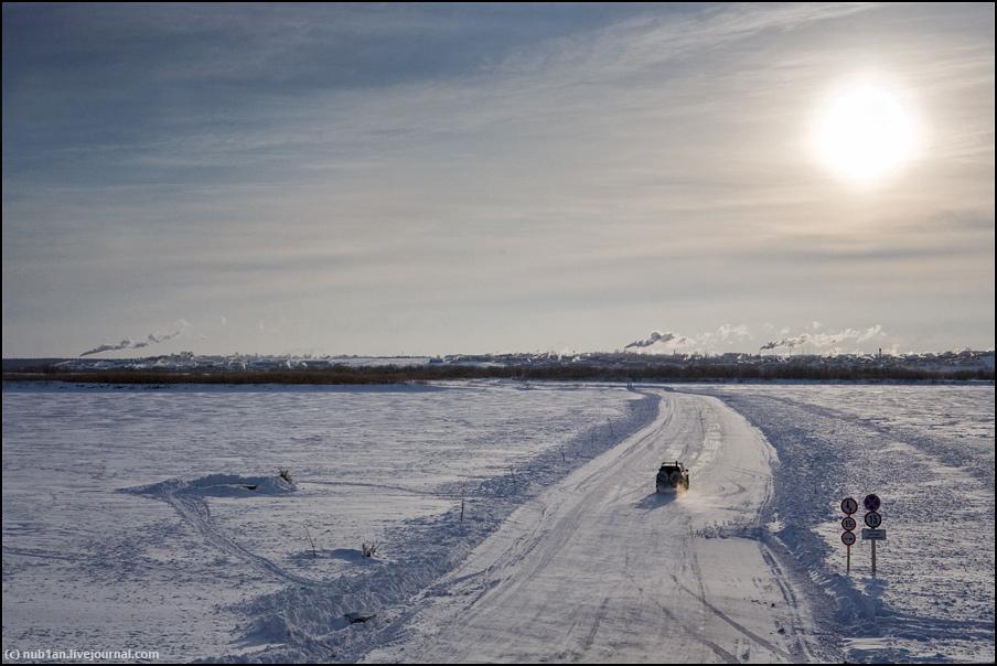 Проехали вдоль реки Мезень, что в Архангельской области и Республике Коми.  Зимники, ледовые переправы, тайга и...